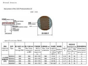 China 20mm Photoresistor Sensor/Ldr Sensor/CDS/Light