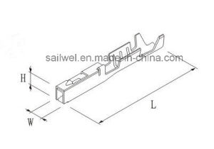 China Galvanized Copper Auto Terminal for 0.2-0.5mm Wire