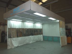 China Curtain Spray Booth Paint Booth with PVC  China Curtain Spray Booth Paint Booth with PVC