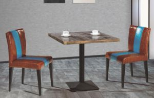 coffee shop furniture cafe table and chair metal bar furntiure wooden top table and chair