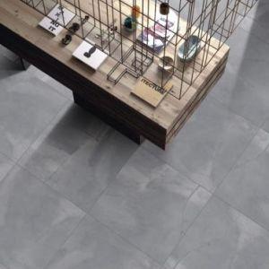 glossy cement dark grey porcelain ceramic flooring wall tile