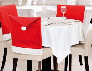 christmas chair covers white childrens table and set china 12 pcs santa claus 60x50cm nov woven red caps for dinner party wholesale cover
