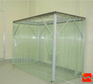 Good China Top Quality PVC Transparent Plastic Curtain Clear Plastic