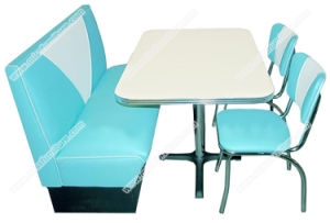 retro tables and chairs rustic christmas chair covers china popular american style 50s diner table booth furniture set v shape