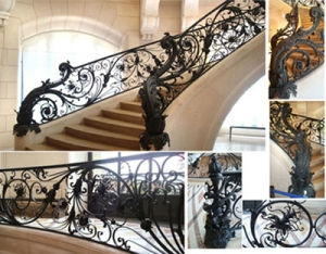 China Wrought Iron Stairs Wrought Iron Handrails Ht S001 China | Cast Iron Handrails For Stairs | Baluster Curved Stylish Overview Stair | 1920'S | Iron Railing | Exterior Stair | Georgian