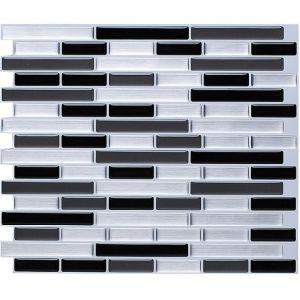 modern easy to diy backsplash decor wallpaper popular 3d black silver gray peel and stick wall tiles