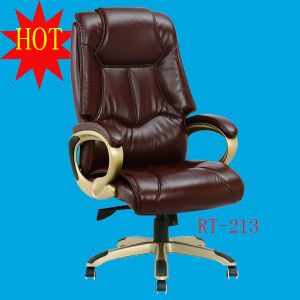 blue leather office chair massage sharper image china synthetic pu unfolded nylon base mid east style lift swivel wheel