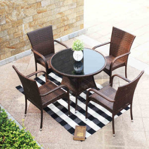 rattan table and chairs bed bath beyond armchair covers china modern wicker restaurant coffee shop tables outdoor furniture z348