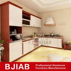 Aluminum Kitchen Cabinets Best Design Program China Red Teak And White Oak Modern Metal Home Furniture Cabinet