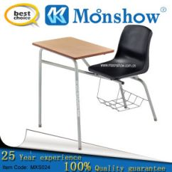 Chair Connected To Desk Used Black Spandex Covers For Sale China School And Writing Basic Info