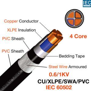 China Yjv32 4core Cu/XLPE/Swa/PVC LV PVC Cable - China LV PVC Cable,其實它的每一個組成部分都有各自重要的使用目的,簡稱:PVC) 聚乙烯(polyethylene, XLPE Cable