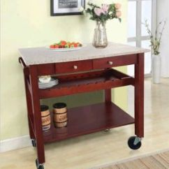 Granite Top Kitchen Cart Remodels Under 5000 China Furniture Pine Wood Trolley For Red Wine