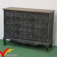 China Commode Handmade Black Home Cabinet Vintage French ...