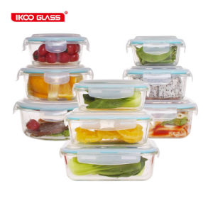 microwave oven freezer safe food storage glass container box