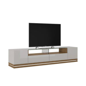 latest designs living room furniture led light tv stand tv table acrylic material television stand
