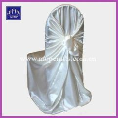 Universal Wedding Chair Covers Best Floor China White Satin Self Tie Cover