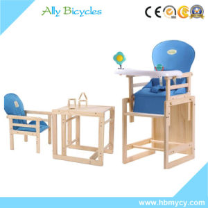 wooden child eating chair