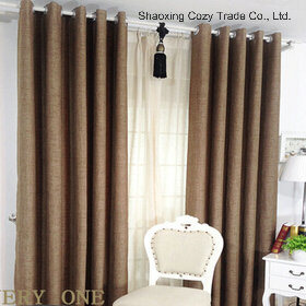 China Faux Linen High Quality Ready Made Curtain China Faux