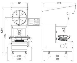 Proyector de perfil de Contour Inspeccione (VOC 1505