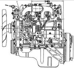 Motor diesel Isuzu 4JB1