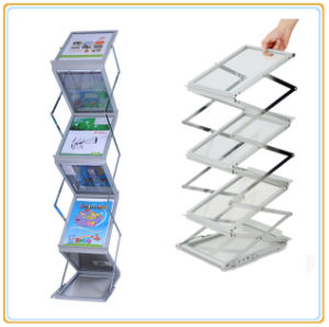 affichage de a4 pliable magazine rack zig zag notice stand