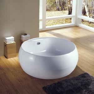 beau bain de trempage avec robinet baignoire ronde