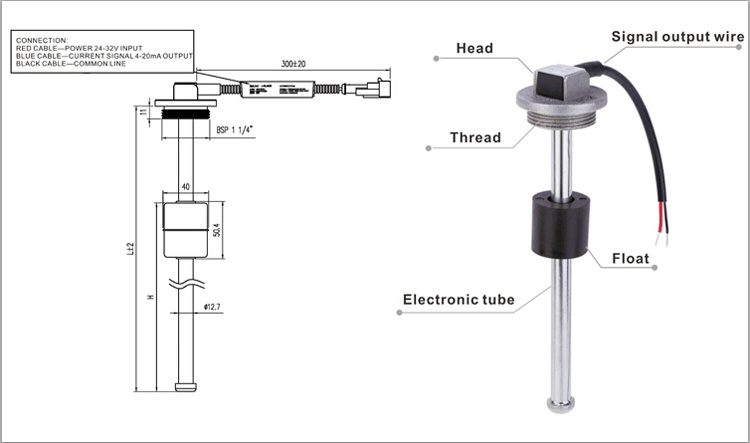 Gltv3 Resistance Output Diesel Fuel Tank Level Sensor with