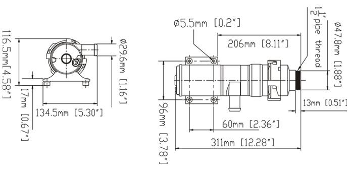 China 12V DC Macerator de baixa pressão para a bomba de