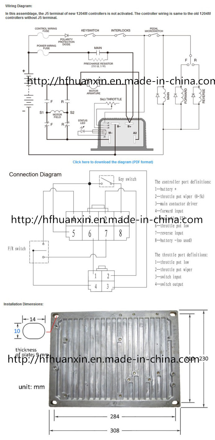 medium resolution of this 1204m 5305 controller assemblage is a completed electric vehicle dc series motor control system the assemblage includes