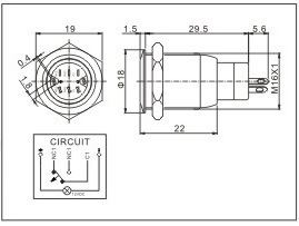 Momentary Contact Switch Electric Current wiring diagram