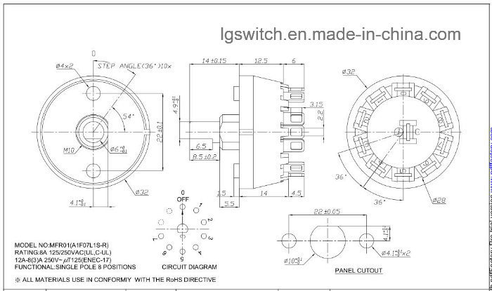 4 Position Rotary Selector Switch Wiring Diagram. . Wiring ... on