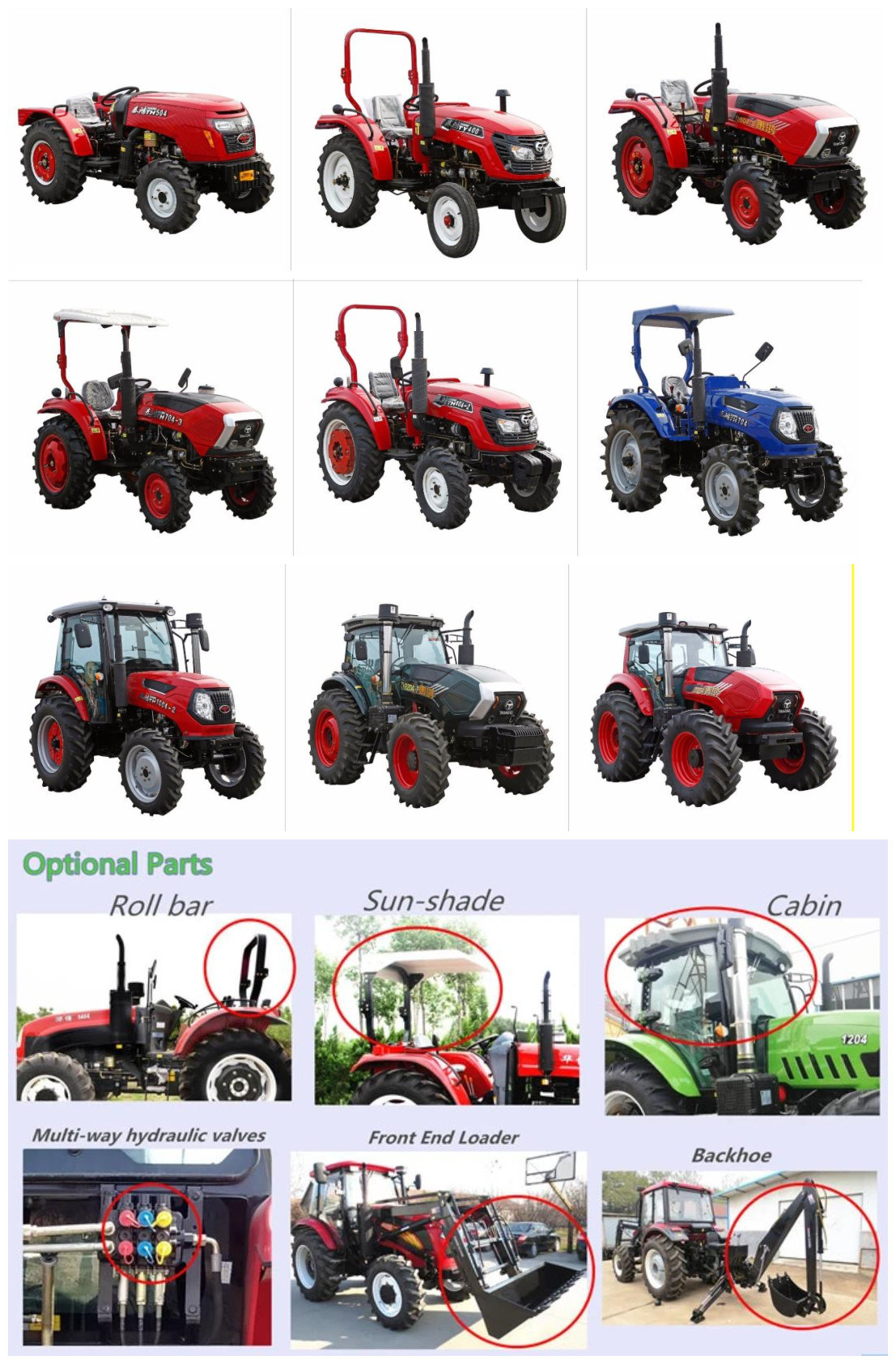 4x4 Compact Tractors For Sale : compact, tractors, China, Cheap, Tractor, Tractor,, Machinery, Made-in-China.com