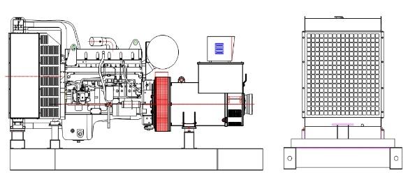 Groupe électrogène diesel Cummins 1000W triphasé