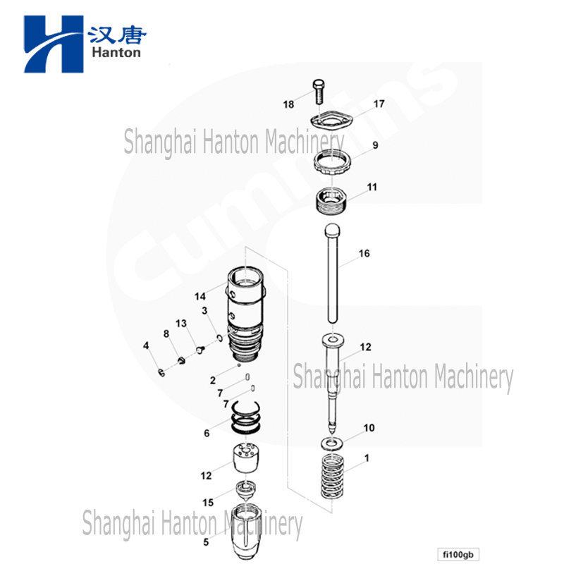 Chine Cummins 3047973 injecteur de carburant pour moteur à