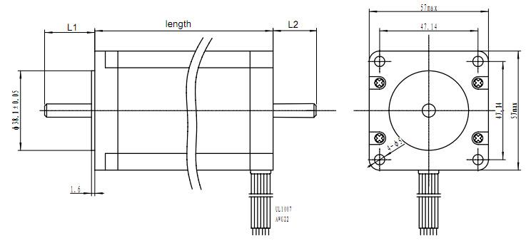 NEMA 23 (57mm) Moteur Stepping pour machine CNC