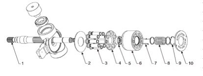 China Replacement Hydraulic Piston Pump Parts for Uchida