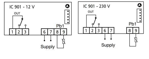 China Italy Eliwell Temperature Controller (Icplus 902