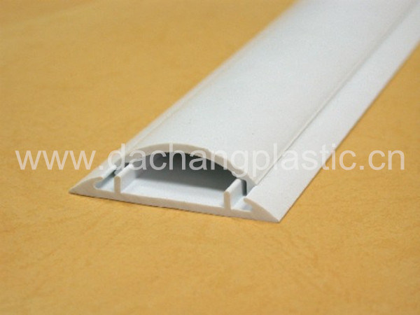 China Half Moon Shape PVC Floor Cable Trunking 30 50
