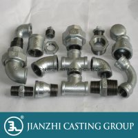 China NPT Threads Iron Pipe Fittings Connections - China ...