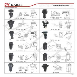 Différents types Porte-fusible à lame automobile (QS-03