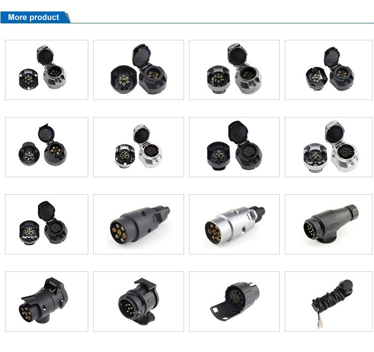 China Top Sale 12 Volt 7 Pin Round Semi Trailer Parts
