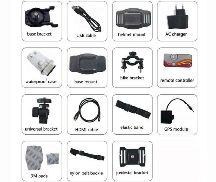 China HD Helmet Action Camera Sport DV 1080P Video