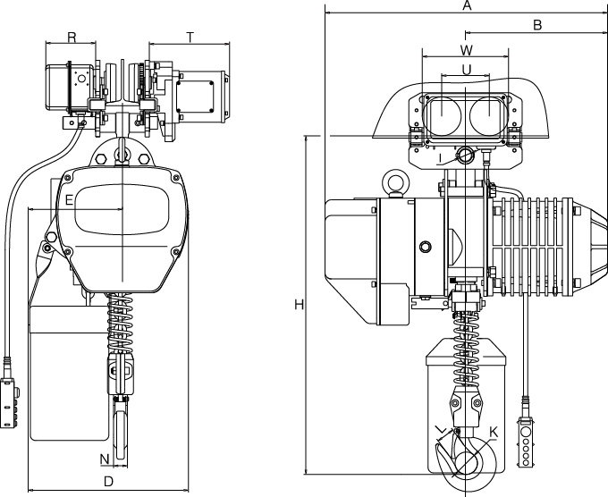 China 3ton Motorized Trolley Type Electric Chain Hoist