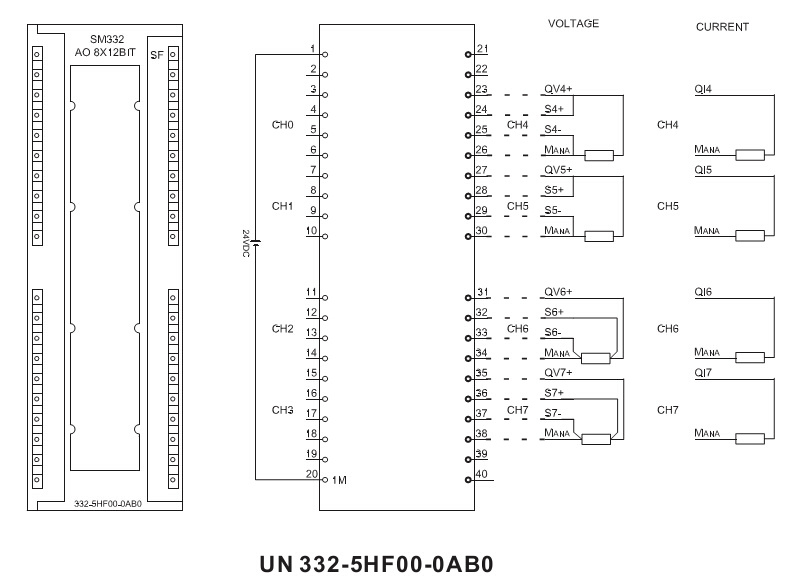 Sm332 8 Analog Output 300 PLC Module 332-5hf00 Compatible