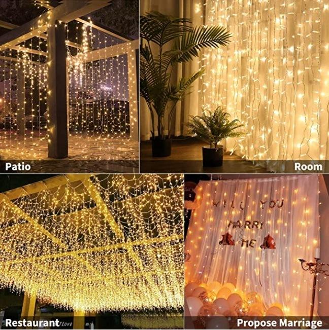 300 led fairy tale lamp curtain light