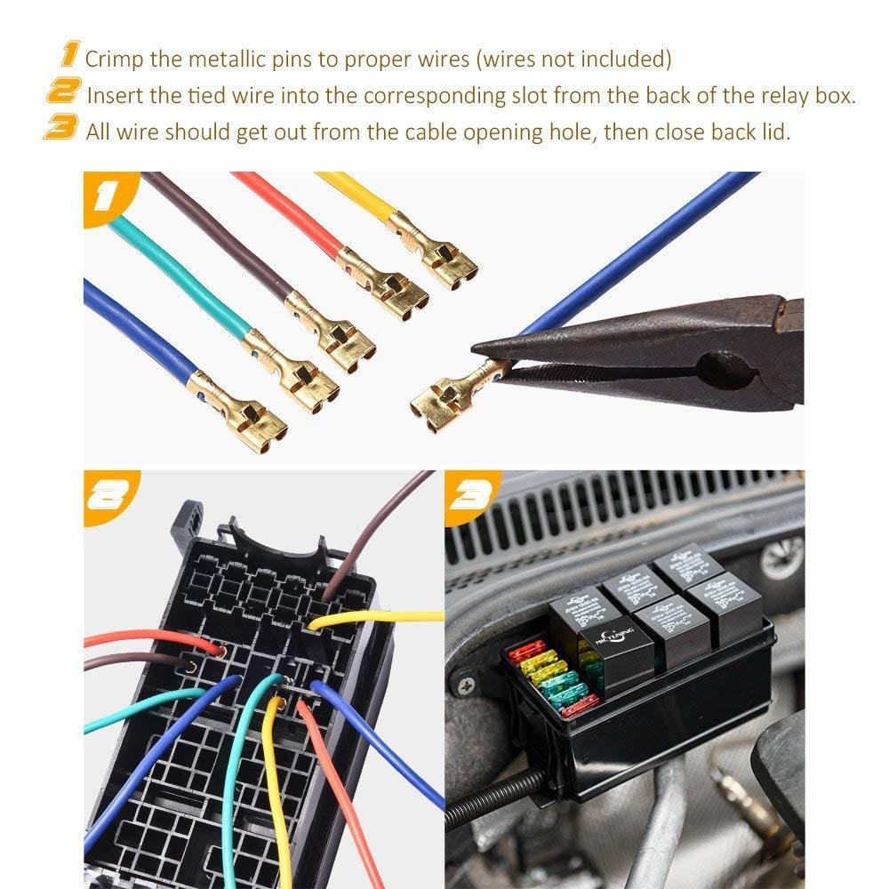 hight resolution of 12 slot large capacity relay fuse box holds 6 relays 6 atc ato fuses for automotive and marine use it is made by pa6 retardant material can offer safe