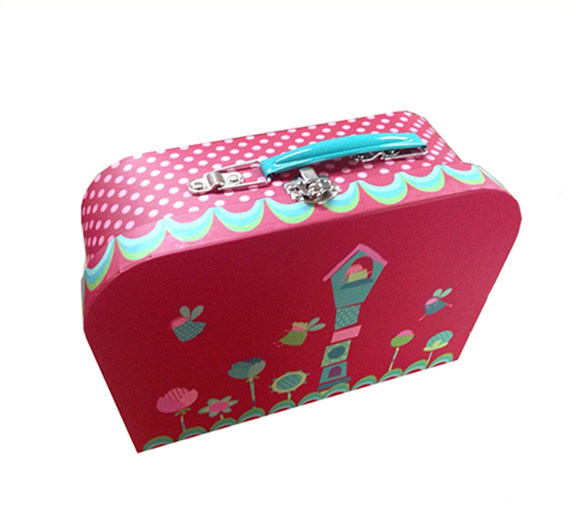 China Wholesale Paper Suitcase Shape Lunch Box With