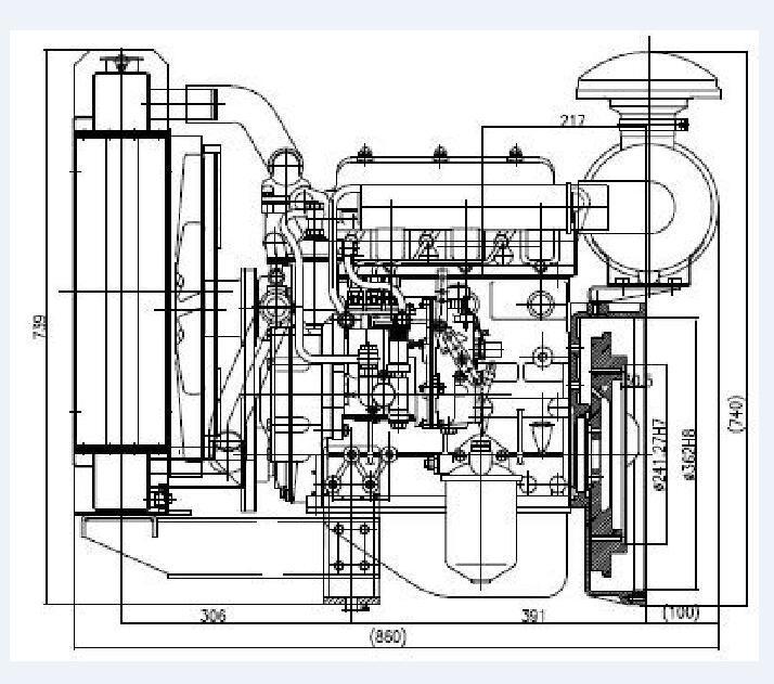 Motor Diesel de refrigeração água QC380q de bomba de