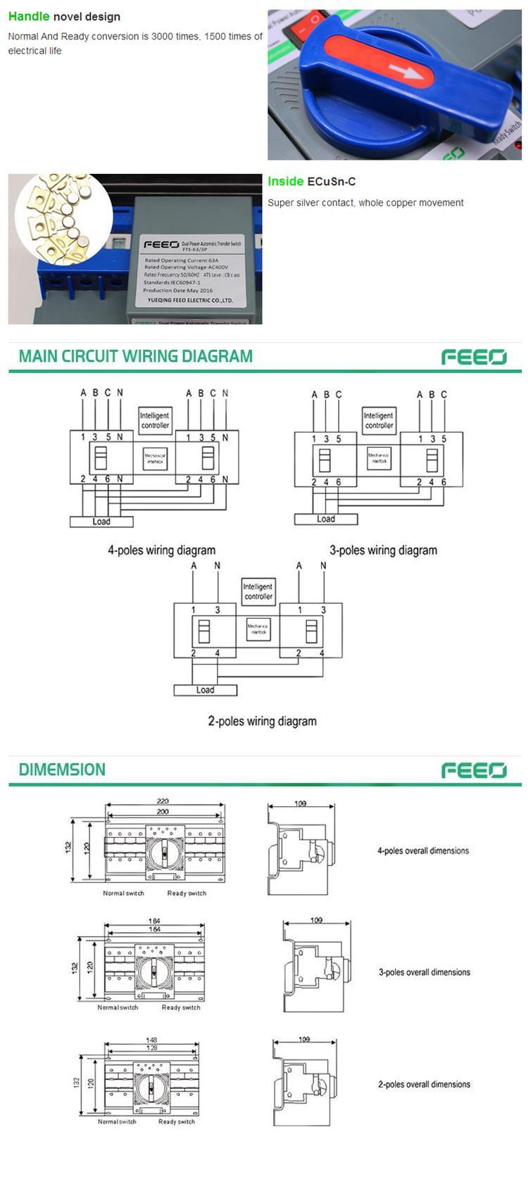 hight resolution of ats 4 phase dual power auto transfer switch china transfer 4 wire trailer wiring diagram