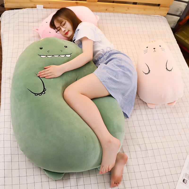 dinosaur cuddle pillow cute pig doll